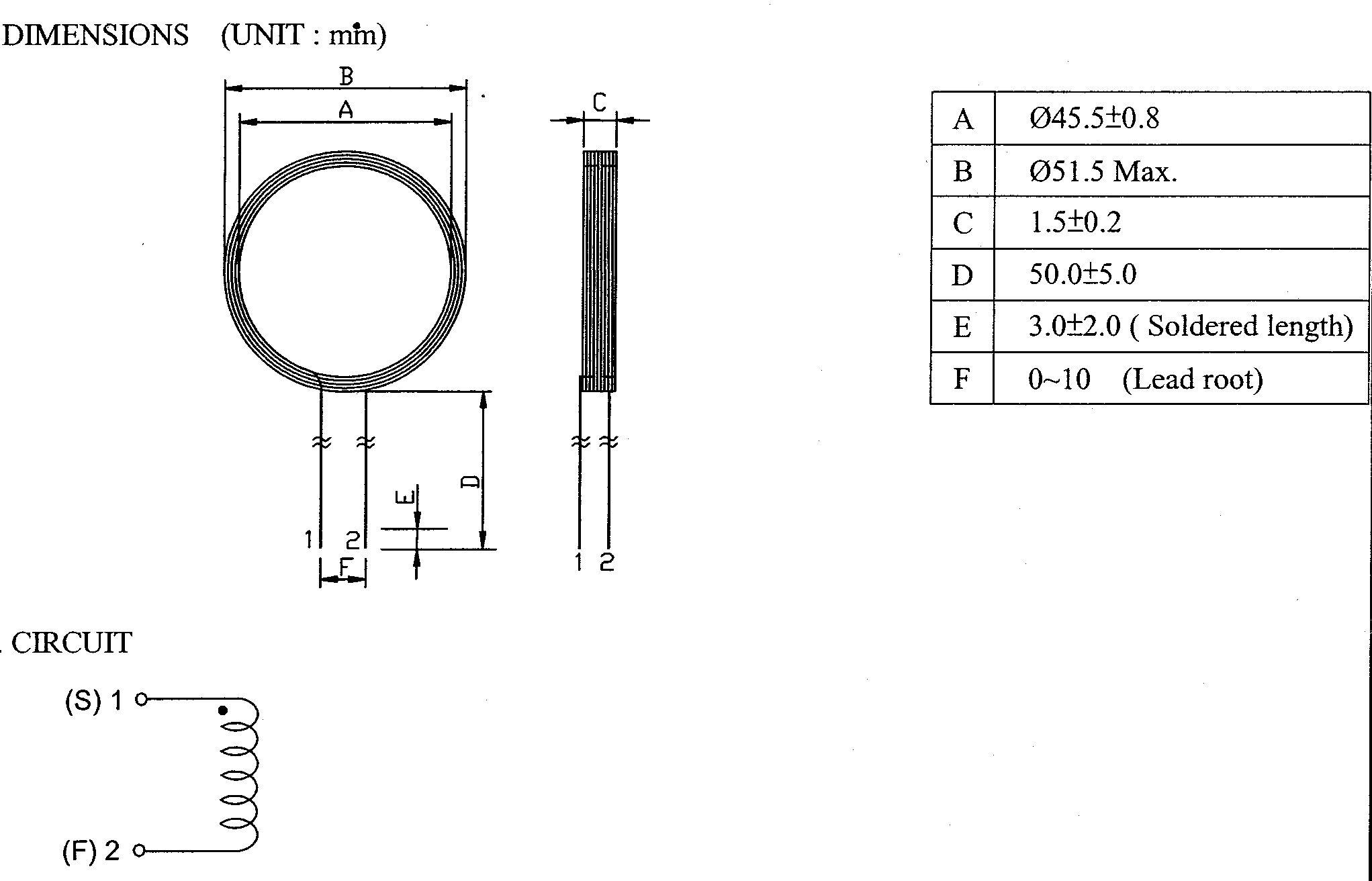 1 5mm Antenna for EM proximity readers