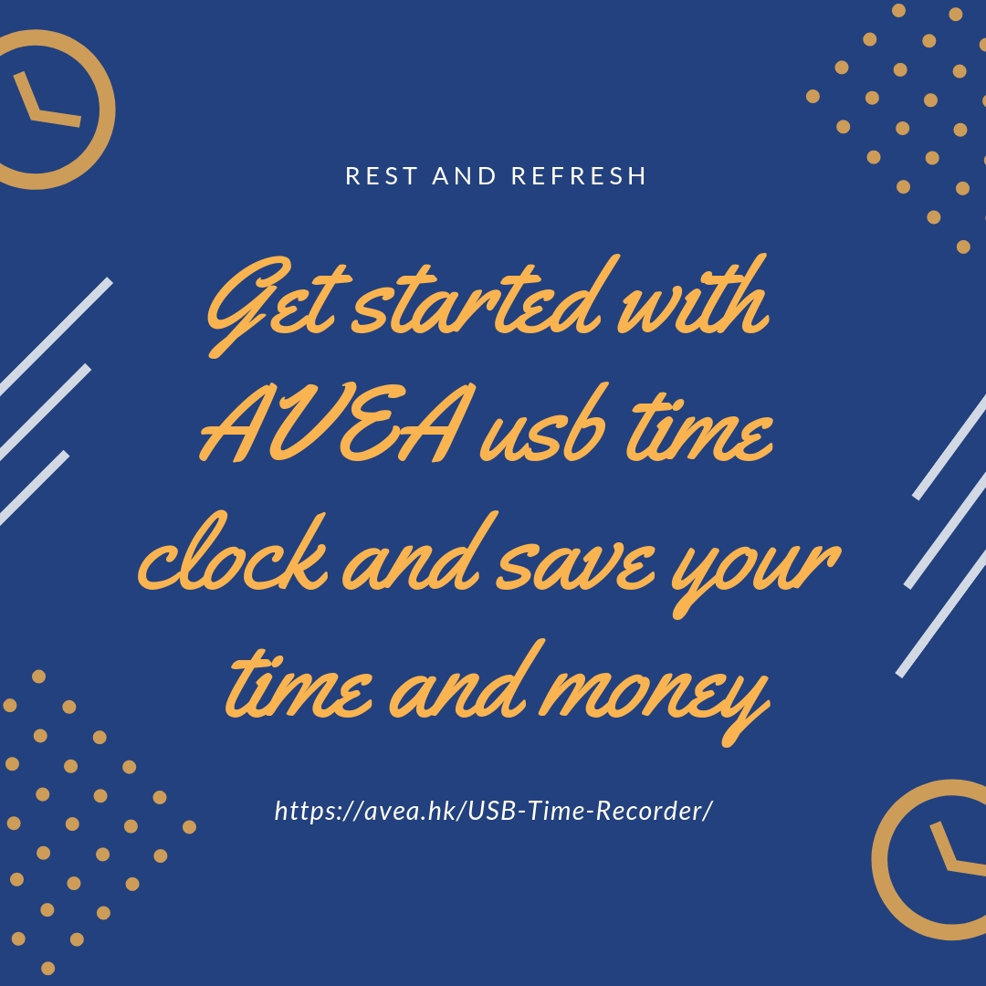 Get started with AVEA usb time clock and save your time and money