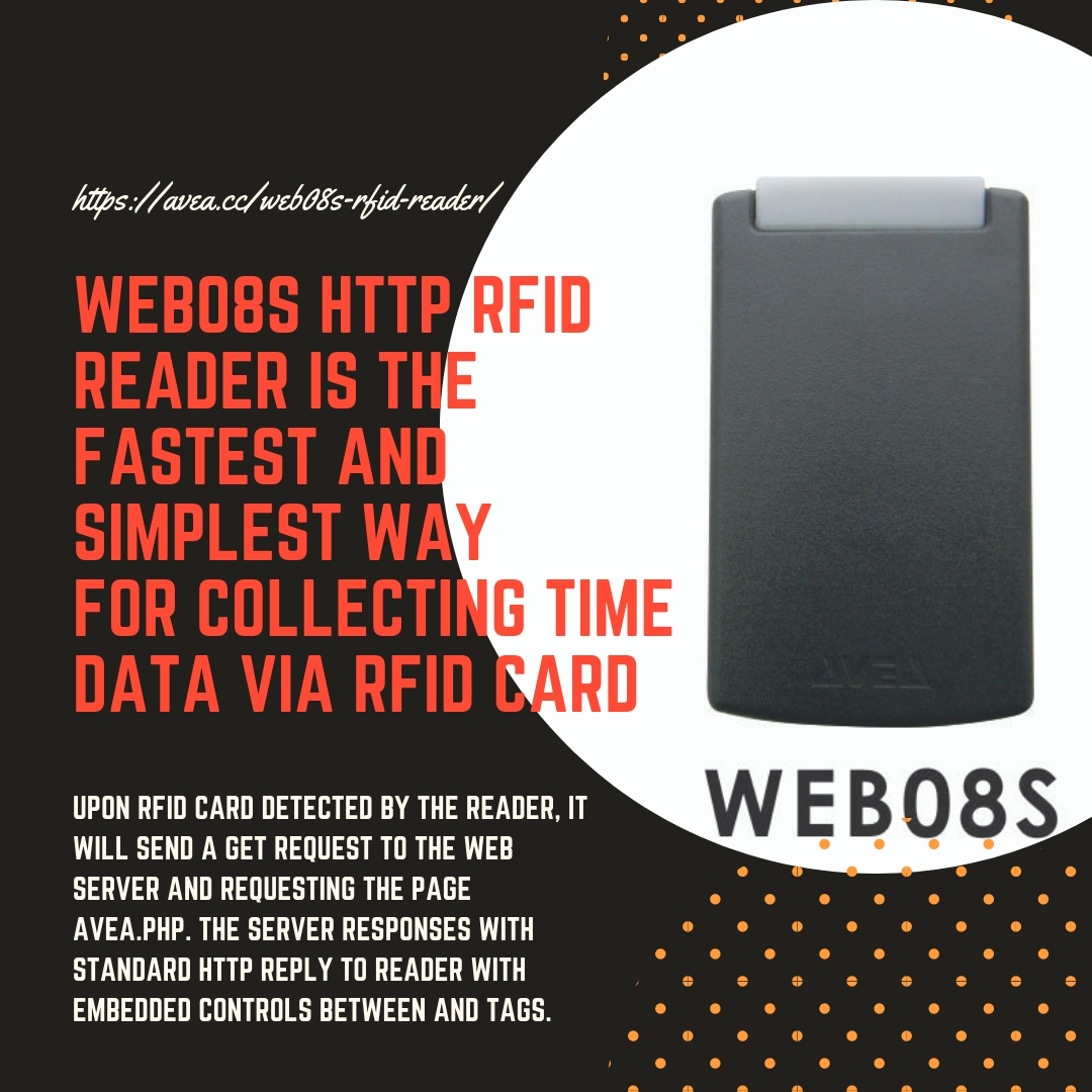 WEB08S RFID READER IS THE FASTEST AND SIMPLEST WAY FOR COLLECTING TIME DATA VIA RFID CARD