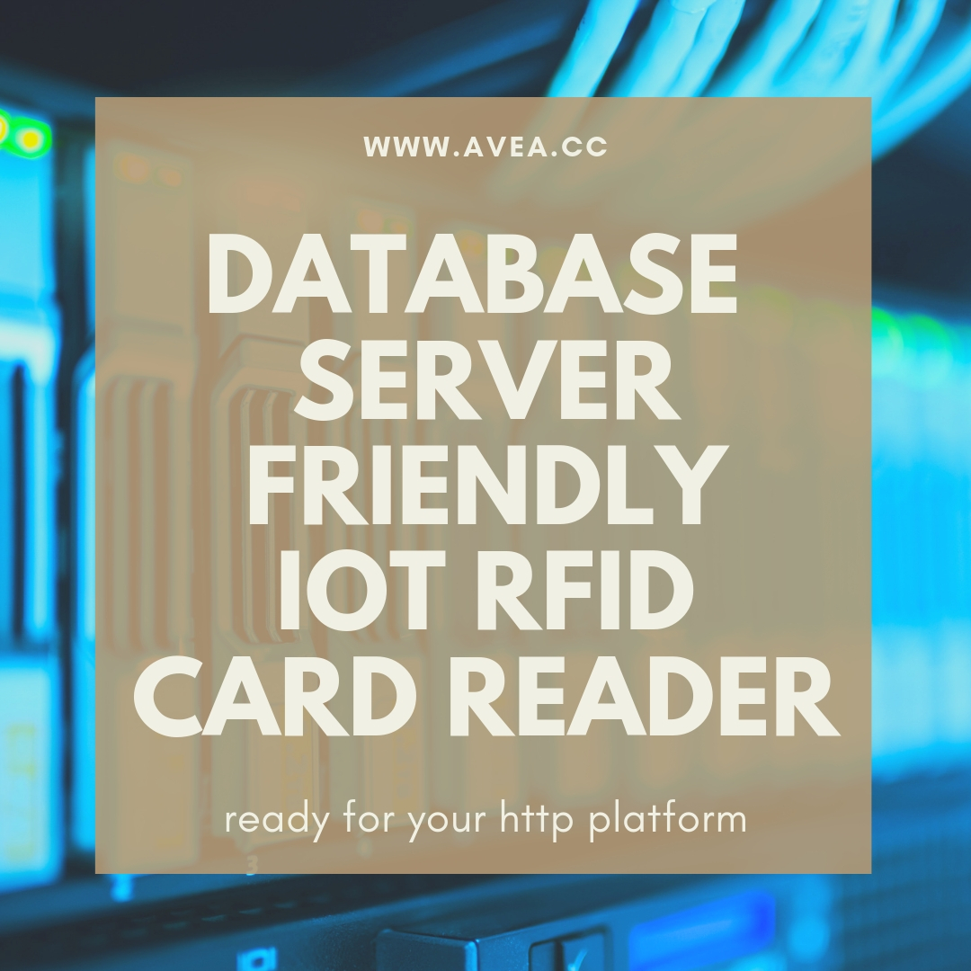database server friendly iot rfid card reader